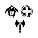Viking Logo Template With Flat Color Royalty Free Stock Images