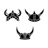 Viking Logo Template With Flat Color Stock Photo