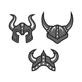 Viking Logo Template With Flat Color Royalty Free Stock Photos