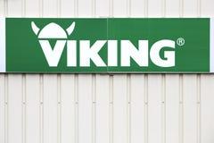 Viking logo on a wall Royalty Free Stock Image