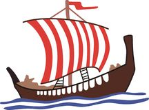 VIKING LONG SHIP Royalty Free Stock Photos