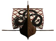Viking Longship Approaches Royalty Free Stock Image