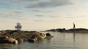 Viking Longship Homecoming Stock Image