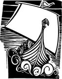 Viking Longship Sailing stock illustratie