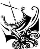 Viking Longship Sailing vector illustratie