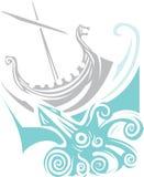 Viking Longship Sailing Photo stock