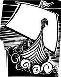 Viking Longship Sailing Royalty Free Stock Photography