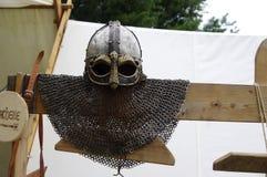 Viking hełm Fotografia Royalty Free