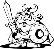 Viking Man Cartoon Design Vector Clipart Stock Foto's