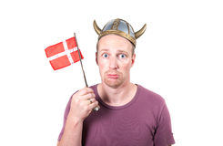 Viking man isolated helmet Stock Images