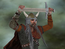 Viking Man with Sword Royalty Free Stock Image