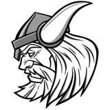 Viking Mascot Illustration Images libres de droits