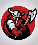 Viking mascot swinging the axe. Vector of Viking mascot swinging the axe suitable for your sport team project Royalty Free Stock Images