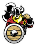 Viking mascot Stock Photo