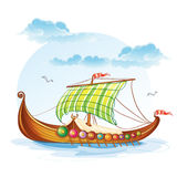 Viking merchant ships S.VI Royalty Free Stock Image