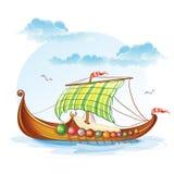 Viking merchant ships S.VI. Cartoon image of the Viking merchant ships S.VI Royalty Free Stock Image