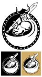 Viking met zwaard Royalty-vrije Stock Afbeeldingen