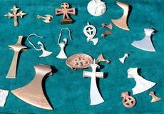 Viking metal ornament. Viking jewelery. snake, symbol stock photography