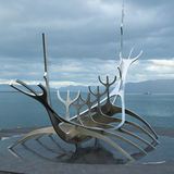 Viking monument on Iceland Royalty Free Stock Images
