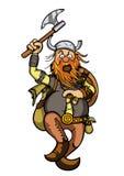 Viking no ataque ilustração stock