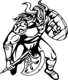 Viking nordique - illustration de vecteur. Vinyle-prêt. Photo libre de droits
