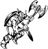 Viking nordique - illustration de vecteur. Vinyle-prêt. Photos libres de droits