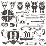 Viking objekt stock illustrationer