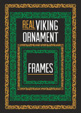Viking ornament frames Royalty Free Stock Image