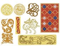 Viking pattern designs Stock Photos
