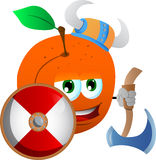 Viking peach with axe Royalty Free Stock Photos