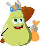Viking pear with a club and sack Stock Images
