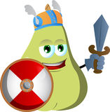 Viking pear with sword Royalty Free Stock Images