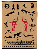 Viking petroglyphs Royalty Free Stock Image