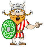 Viking pointing to something Royalty Free Stock Photo