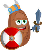 Viking potato with sword Royalty Free Stock Image