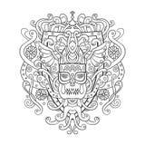 Viking prydnad i en grafisk stil Vektorillustrationdesign w Arkivbild
