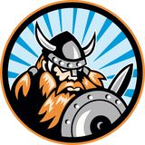 Viking Raider Barbarian Warrior Retro Royalty Free Stock Photo