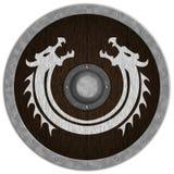 Viking Średniowieczny Shiled Zdjęcia Royalty Free