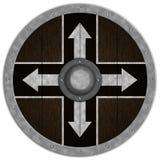 Viking Średniowieczny Shiled Zdjęcie Royalty Free