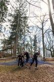 Viking resistente, a competição a maior e a mais brutal da raça de obstáculo na região nórdica Fotos de Stock