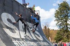 Viking resistente, a competição a maior e a mais brutal da raça de obstáculo na região nórdica Foto de Stock