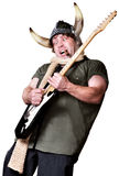 Viking Rock Guitarist Royalty Free Stock Image