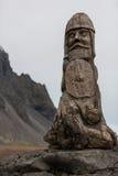 Viking ruin carving artifact. On rock Stock Photography