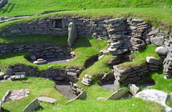 Viking ruins, Jarslhof, Shetland, Scotland Stock Photo
