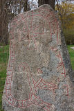 Viking rune-stone Royalty Free Stock Image