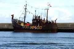Viking's boat. Fisherman's boat like viking Stock Image