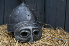 Viking's helmet Stock Images
