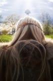Viking`s pray. Valhalla royalty free stock image