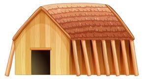A viking's shelter. Illustration of a viking's shelter on a white background vector illustration