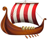 A viking's ship. Illustration of a viking's ship on a white background Stock Images
